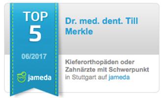 Auszeichnung:  Top 5 aller Kieferorthopäden Stuttgart