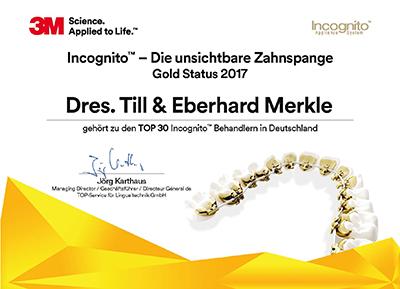 Auszeichnung: Top 30 Incognito Behandler in Deutschland