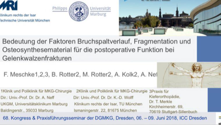Vortrag von Fr. Dr. Meschke bei Jahrestagung DGMKG